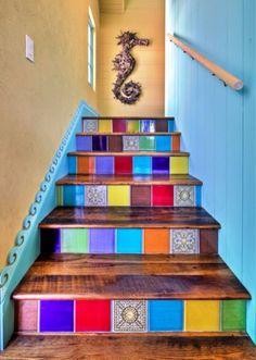 Rainbow Stairs - Apartment Interior Design