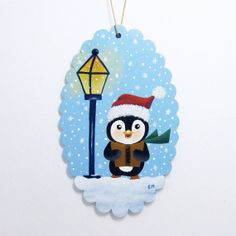 Hand Painted Wooden Ornament  Carol by paintingfromtheheart