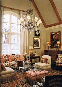 """This Beautiful Old English style living space seems a bit more dads pace, I'm not certain he could handle the """"cluttered"""" abundance that some old English and Victorian styles demand"""