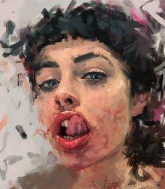 The Superb Female Portrait Paintings By Ivana Besevic – Design You Trust Oil Portrait, Digital Portrait, Female Portrait, Portrait Paintings, Eye Painting, Painting Collage, Painting Abstract, A Level Art, Art Sketchbook