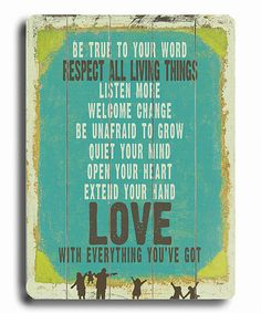 Take a look at this 'Be True to Your Word' Wall Art by Lisa Weedn on #zulily today!