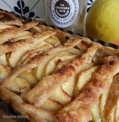 Tarte aux pommes et à la confiture rhubarbe-spéculoos