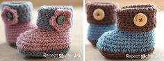 Make a pair of these adorable crocheted cuffed baby booties for a special little girl or boy. Get FREE crochet pattern + video tutorial NOW!