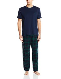 Leisureland Men/'s Cotton Poplin Pajama Set Plaid