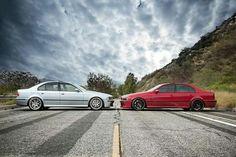 BMW E39 M5 duo silver red