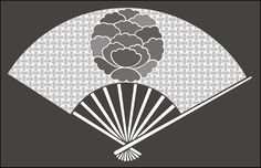 Click to see the actual JA35 - Peony Fan stencil design.