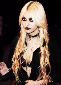 Taylor Momsen ........not familiar with this one but very hot goth kinda look goin on