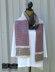 Southern Diamonds Scarf - ELK Studio - Handcrafted Crochet Designs