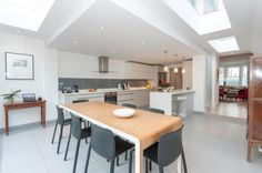 Check out this property for sale on Rightmove! Kitchen Extensions, House Extensions, Side Return Extension, Interior Ideas, Interior Design, Skylights, Extension Ideas, Kitchen Living, Dining Rooms