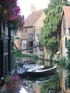 Canterbury. Apparently you ride in a boat through the town (although I'm sure it has roads as well).