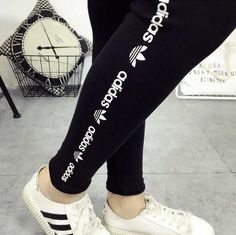 ADIDAS Sport Fashion Tight Pants Trousers Sweatpants from IDS Book. Shop more products from IDS Book on Wanelo.