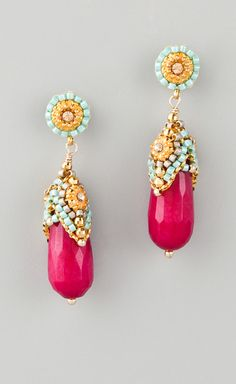 Wear these Miguel Ases jade earrings with Miyuki beads and Swarovski crystals with anything...or nothing at all.