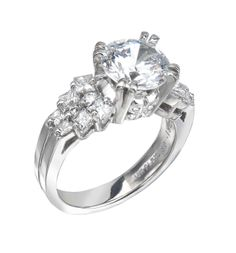Bridal Ring: 18 Karat Gold or Platinum with White Princess Cut Diamonds - See more at: http://www.bergio.com/collections/bridal-ring-bb1072/#sthash.6RkBf7ng.dpuf