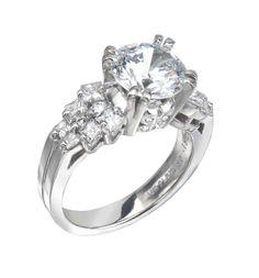 Bridal Ring: 18 Karat Gold or Platinum with White Princess Cut Diamonds - See more at: http://www.bergio.com/collections/bridal-ring-bb1072/#sthash.6RkBf7ng.dpuf
