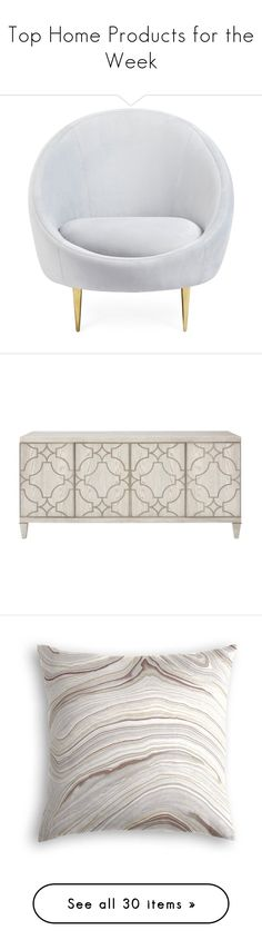 """""""Top Home Products for the Week"""" by polyvore ❤ liked on Polyvore featuring home, furniture, chairs, accent chairs, white, white accent chair, jonathan adler, jonathan adler chairs, jonathan adler furniture and white chair"""