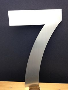 Modern House Numbers 6 Inch Brushed Stainless Steel Number 3