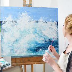 """'Surge' 24x30"""" on canvas available in my Etsy shop http://ift.tt/1pQpp8r"""