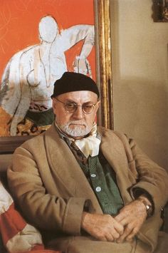 Henri Matisse, a photo by Gisèle Freund.
