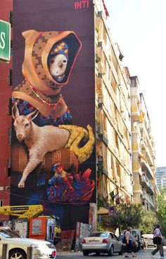 "INTI ""Pagano"" New Mural In Beirut, Lebanon"