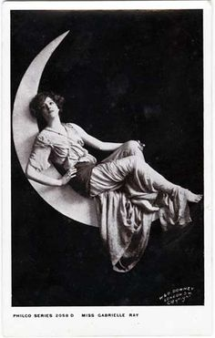 Miss Gabrielle Ray Sits on the Moon - Postcard of Actress by Photo_History, via Flickr