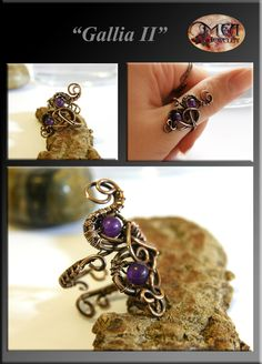 Gallia 2- wire wrapped ring by mea00 on deviantART