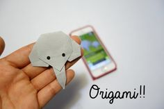 origami elefante Elephant  - app animal origami