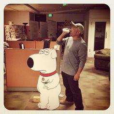 Cesar doing some voice over for #FamilyGuy. #sofun #familyguybrian #goodtimes #werk