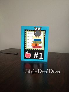 Stampin' Up! Owl Punch Teacher Thank You / Graduate Congrats Card / Number 1 by StyleDealDiva on Etsy, $3.50