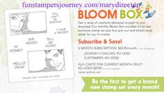 KreatesKards Journey: FSJ True Color Fusion Stamps Pads on Sale and August 2017 Bloom Box - Fun Stampers Journey Products