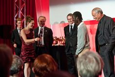Johanne Nussbaum and Amadou Awana Soumare happy to receive the best Short Film Prize