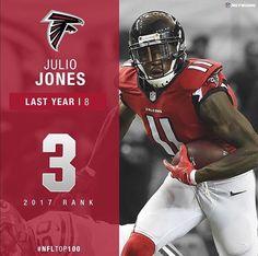 Julio Jones #3 rated player in the NFL by his peers in 2017. #Alabama #RollTide #Bama #BuiltByBama #RTR #CrimsonTide #RammerJammer