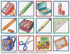 Drachenstübchen: Memoria zum Wortschatz Schulsachen