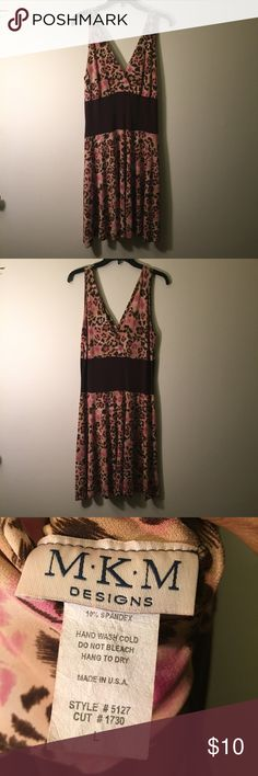 Sexy Animal Print Dress Good condition; Dress will accent your curves. Dresses