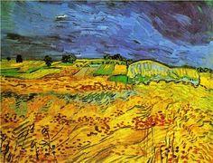 1890 Vincent van Gogh (Dutch artist, 1853-1890) The Fields. A cor amarela significa luz, calor, descontração, otimismo e alegria. O amarelo simboliza o sol, o verão, a prosperidade e a felicidade. É uma cor inspiradora e que desperta a criatividade. Estimula as atividades mentais e o raciocínio. O pintor holandês Vincent Van Gogh explorou em suas obras as tonalidades da cor amarela de forma muito intensa