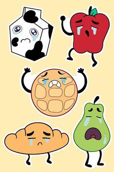 Steven Universe Crying Breakfast Friends Stickers von StarryCrowns