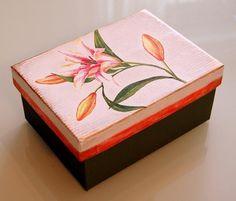 Caja de cartón decorada, enviado por Anabel - Las Manualidades