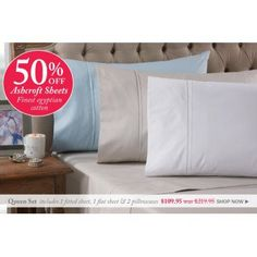 50% OFF Sale on Ashcroft Sheets @ Bed Bath n` Table - Bargain Bro