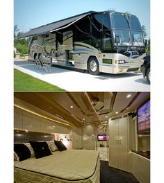 Most Extreme RVs - CNBC living-on-the-road-rvs-campervan-etc Small Motorhomes, Luxury Motorhomes, Station Wagon, Luxury Rv Living, Used Rv For Sale, Light Trailer, Boat Trailer, Airstream Basecamp, Lightweight Trailers