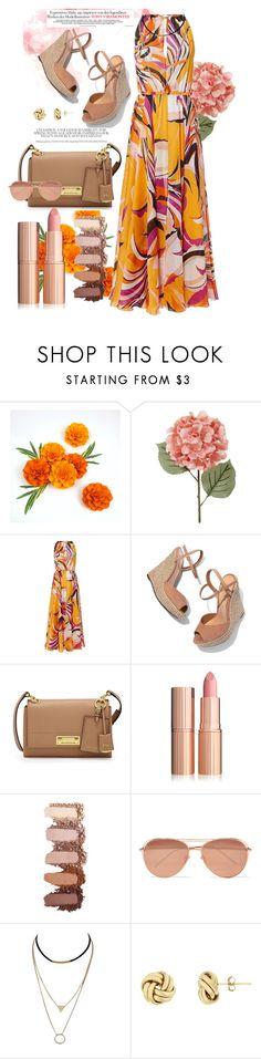 """summer outfit"" by aletraghetti on Polyvore featuring moda, Emilio Pucci, Schutz, Henri Bendel y Linda Farrow"