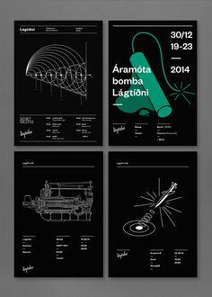 Lágtíðni Posters on Behance