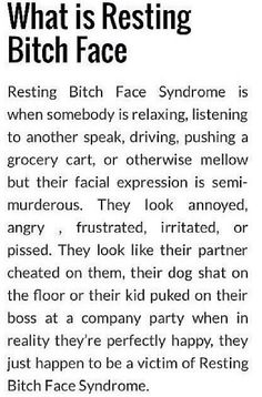 Resting Bitch Face - Google Search
