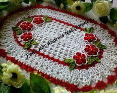 Centrinho Flor Do Campo Vermelho