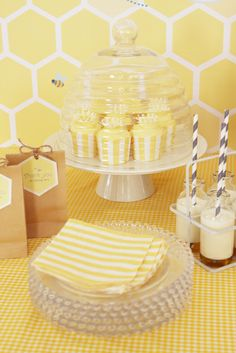 """Photo 12 of 19: Bee themed gender reveal / Baby Shower/Sip & See """"What will it bee?"""" 