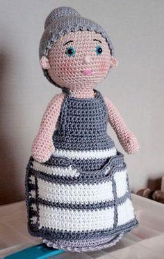 De Haak Hulp Oma (met gratis NL haakpatroon) 136 leuke haakoma's! | Haken haakpatroon gratis-haakpatronen | Gratis leuke haakpatronen | poppetje oma omaatje-haakoma-haakhulp Doll Amigurumi Free Pattern, Octopus Crochet Pattern, Crochet Dolls Free Patterns, Granny Square Crochet Pattern, Crochet Granny, Amigurumi Doll, Crochet Girls, Love Crochet, Crochet Baby