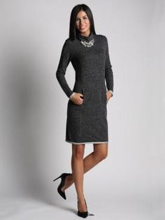 High Neck Dress, Detail, Sexy, Shopping, Dresses, Fashion, Turtleneck Dress, Vestidos, Moda