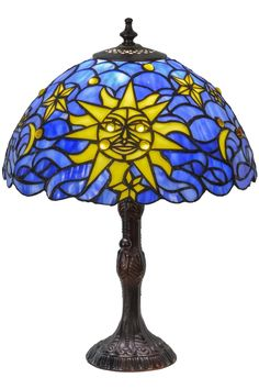 16.5 Inch H Sun Moon & Stars Table Lamp