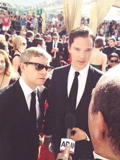 It's like, cockiness-wise Martin is like Sherlock in real life, and Benedict is like John in real life... just a little anyways.