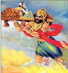 Ghatotkacha   rescuer of Pandavas (Mahabharata) http://ritsin.com/ghatotkacha-mahabharat-indian-mytholog.html/