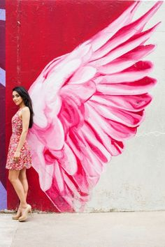Ooh.  I'd like to do 2 oversized canvases with wings painted in shades of red, pink and gold.