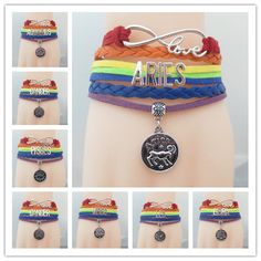 This gorgeous colorful leather infinity bracelet is an excellent way to show of your love for your special astrology sign. This is one piece that will last a very long time. Grab one today!    Every piece is packaged and sent out using bubble envelope or a multi-layer carton. It protects the...